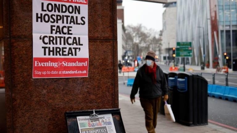 伦敦医院人满为患,英国每日死亡人数最多