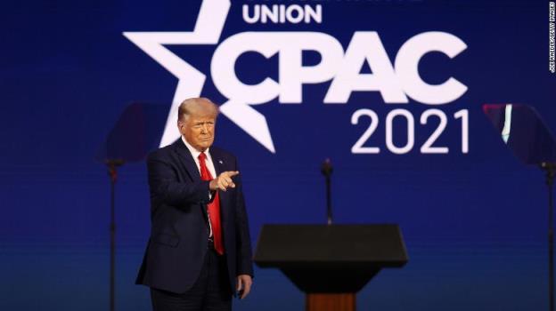 事实核查:特朗普发表了充满谎言的CPAC演讲