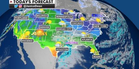 国家天气预报:东南有雨,雷暴,西北有雪