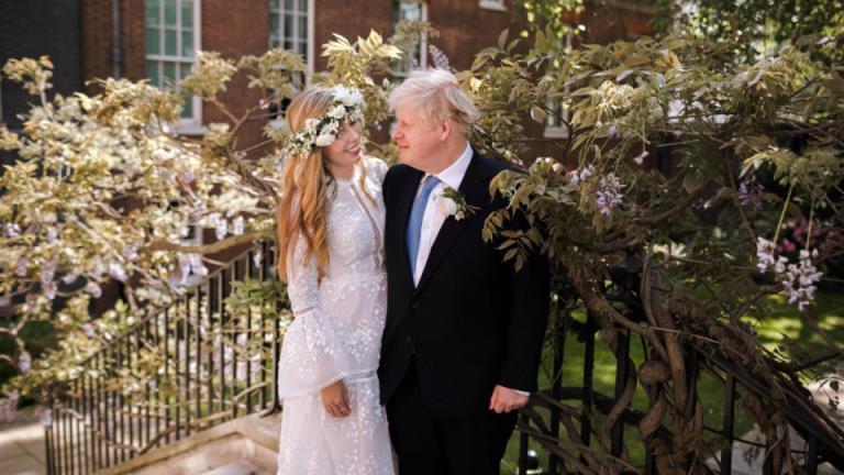 英国首相鲍里斯·约翰逊秘密结婚