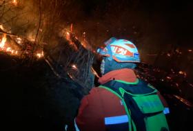 韩国发生森林大火 没有人员伤亡报告