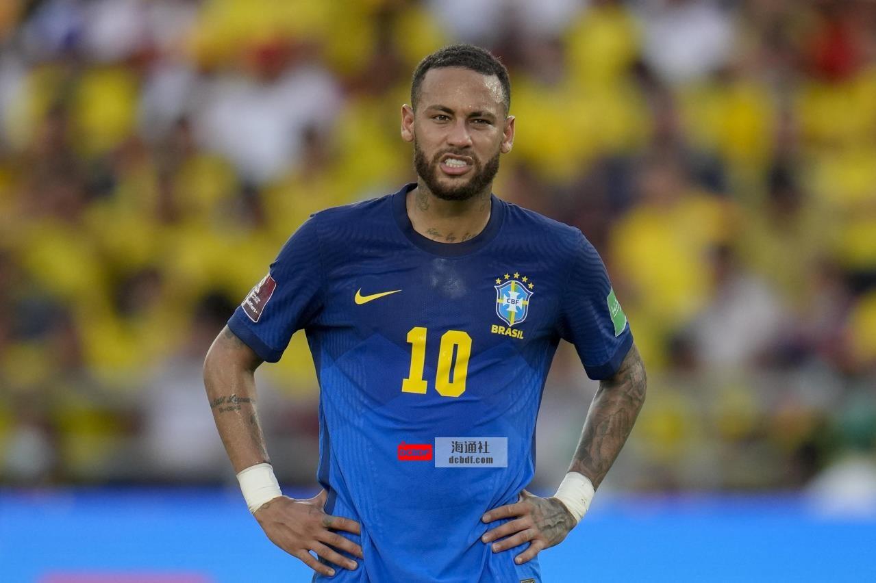 内马尔表示,卡塔尔世界杯可能是他最后一次代表巴西参加世界杯